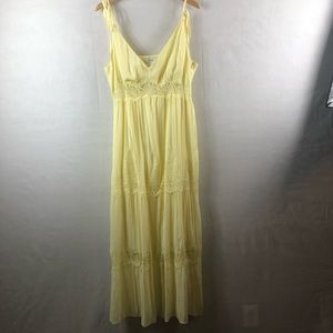 Dresses & Skirts - Yellow BoHo 2X dress spaghetti adjustable strap
